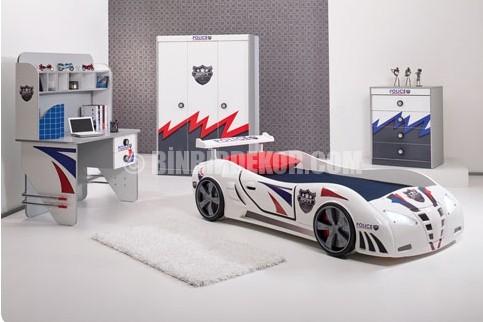 Harika Bir Arabalı Çocuk Odası