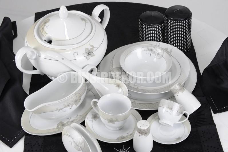 Remetta 86 Parça Porselen Yemek Takımları