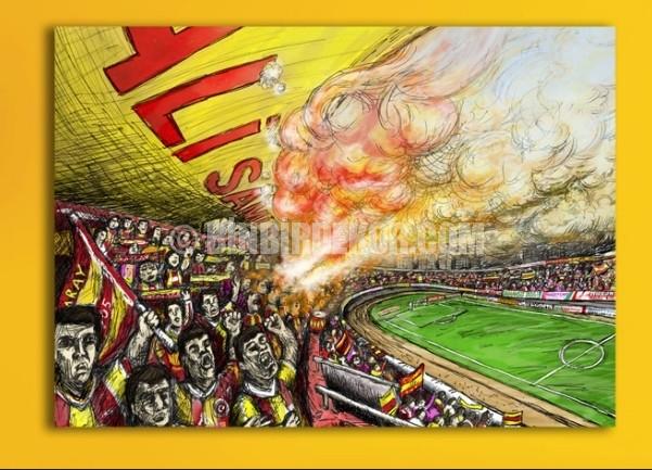 Şampiyon Galatasaray 'ın Kanvas tabloları