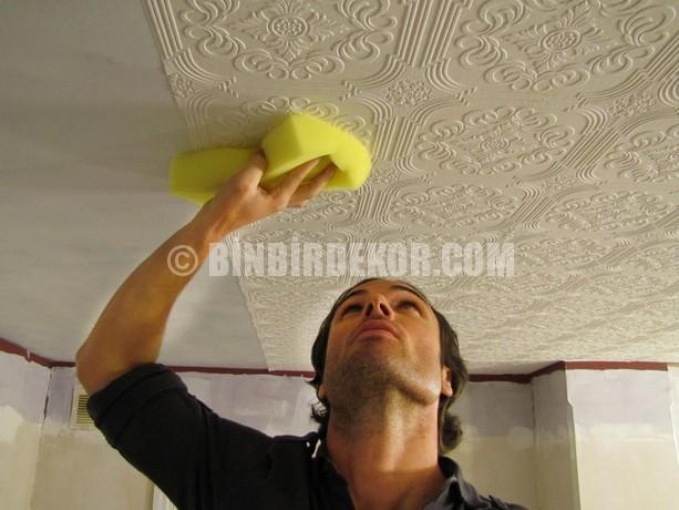 Tavana duvar kağıdı uygulaması