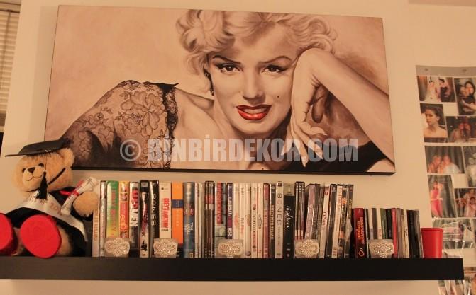 Marilyn Monroe temalı dekoratif eşyalar