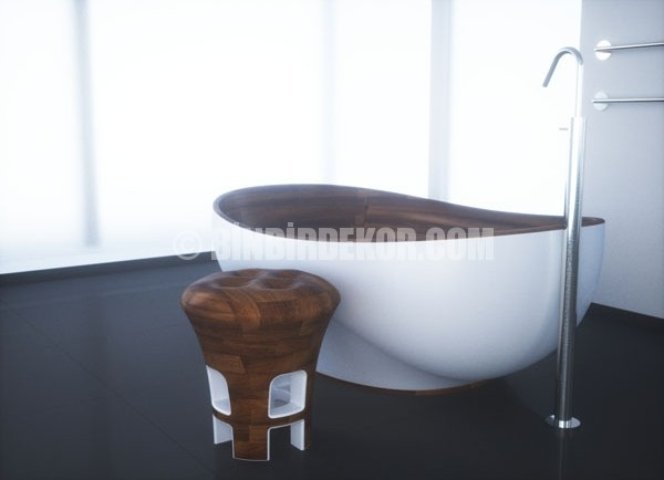 Kashani ahşap banyo koleksiyonu