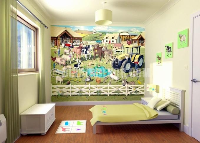 Çocuk odası için duvar kağıtları
