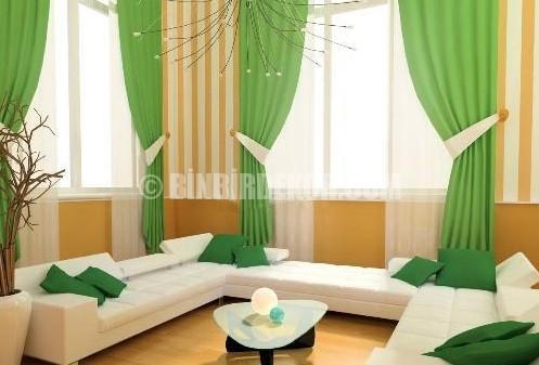 Oturma odası perde modelleri 2012