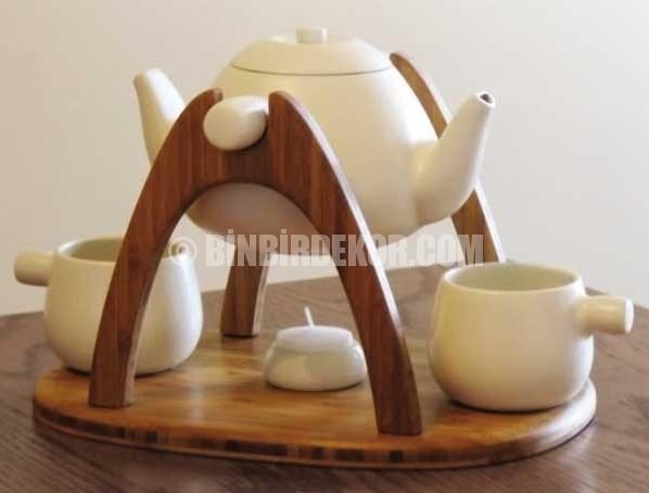 çay keyfi porselen çaydanlık