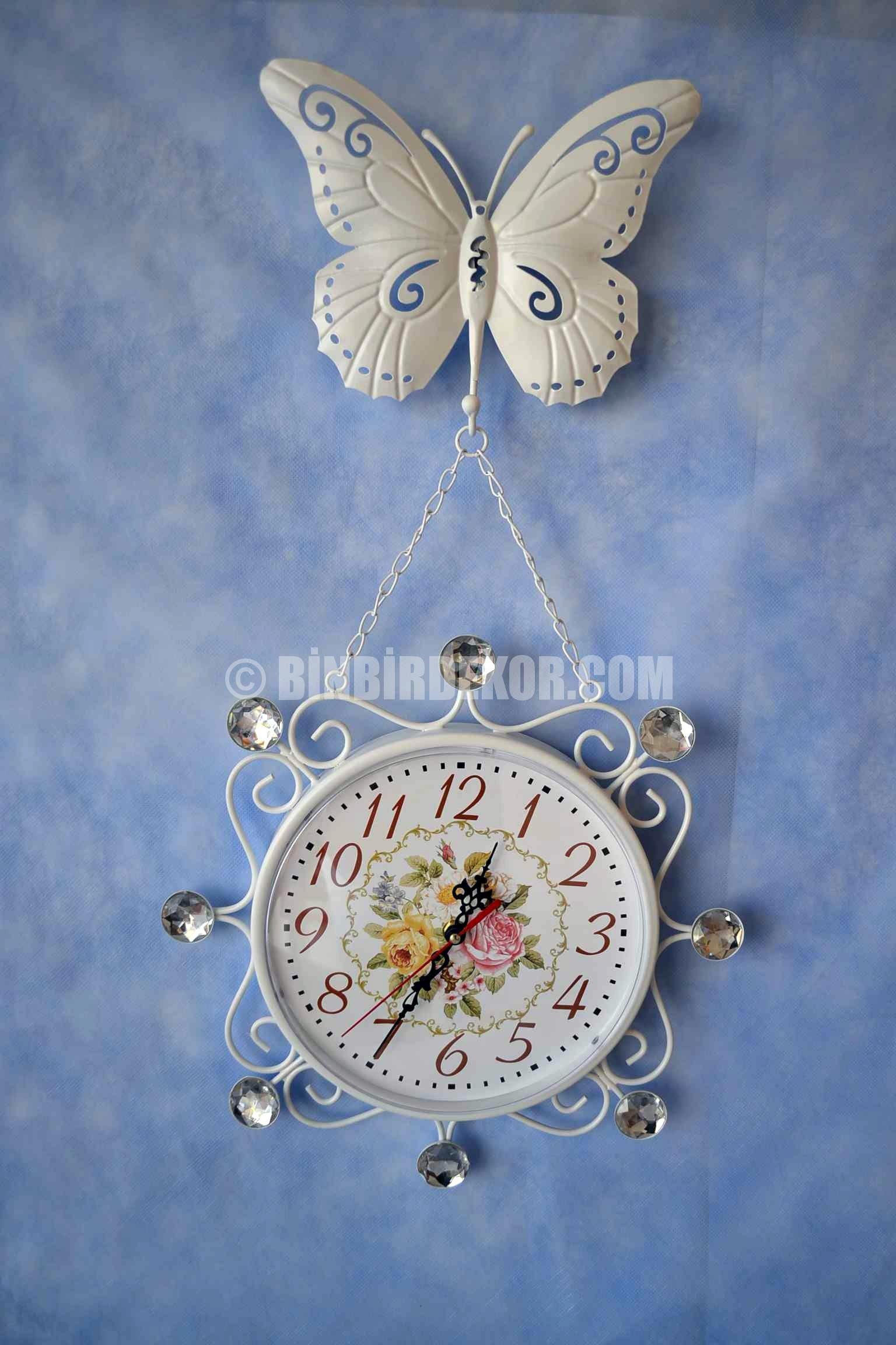 Çok güzel ferforje duvar saatleri