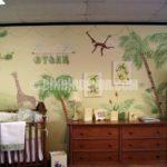 Orman temalı çocuk odası duvarları