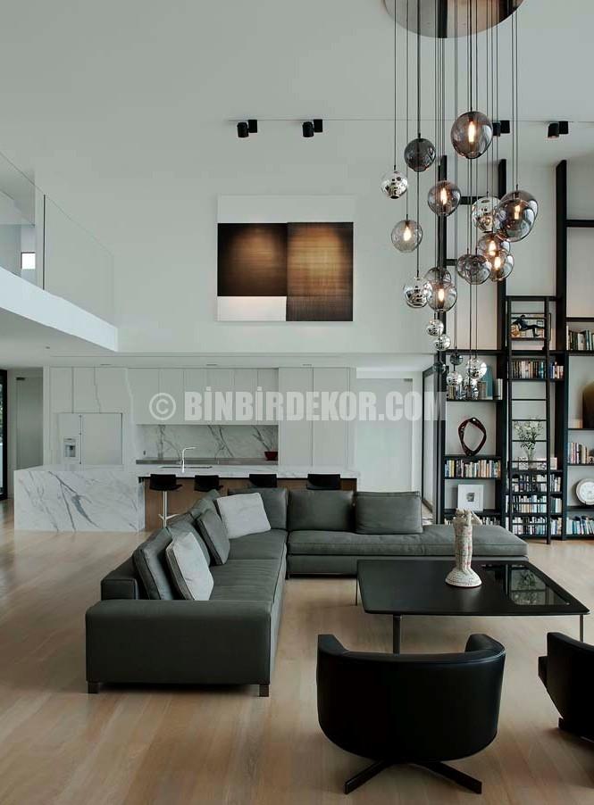 Yüksek tavanlı dekorasyon örnekleri