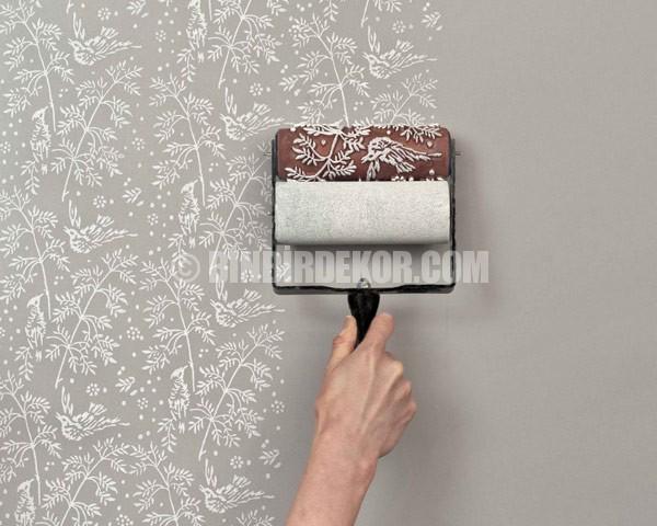 Süper bir fikir, desenli boya ruloları