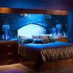 Akvaryumlu muhteşem yataklar