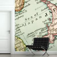 haritalı duvar kağıtları