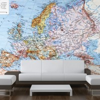 Harita Desenli Duvar Kağıtları