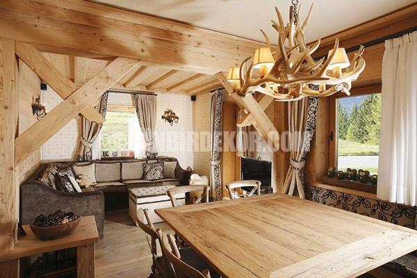 Rustik ve ahşap ev dekorasyonu