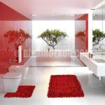 Banyolara özel shaggy halı tasarımları