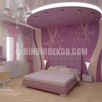 Modern Yatak Odası Asma Tavan Modelleri