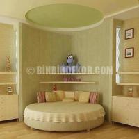 Yatak Odası Karyola Üstü Asma Tavan Modelleri