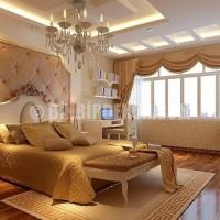Yatak Odası Modern Asma Tavan Modelleri 2015