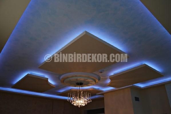 Led ışıklı asma tavan dekorasyonu