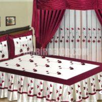 perdeli yatak örtüsü hoıme collection 2013_2