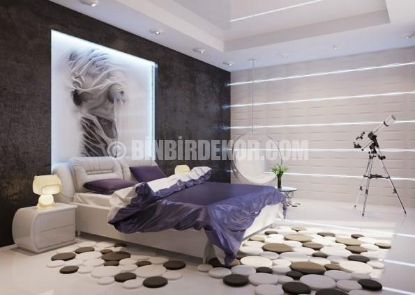 Yatak odası için modern fikirler