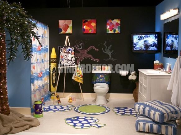 Çocuklar için banyo tasarımları