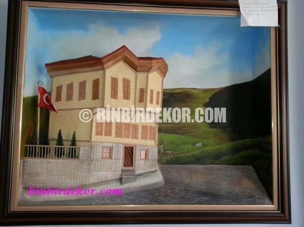 3 boyutlu rölyef tablo atatürk evi