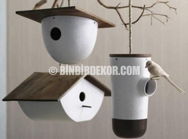 dekoratif kuş evi modelleri
