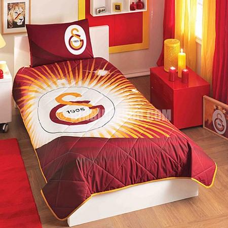 genç odası yatak örtüsü galatasaray