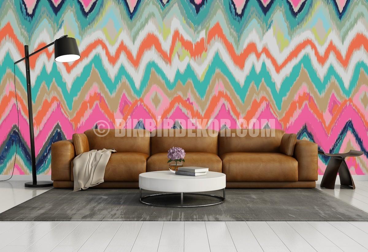 Desenli duvar dekorasyonu örnekleri (Pixers)