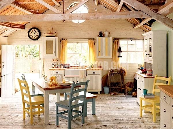 Vintage tarzı mutfak tasarımları