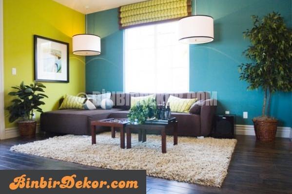 çift renkli duvarlar