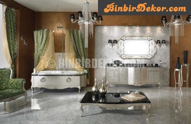 Masalsı klasik banyo dekorasyonları