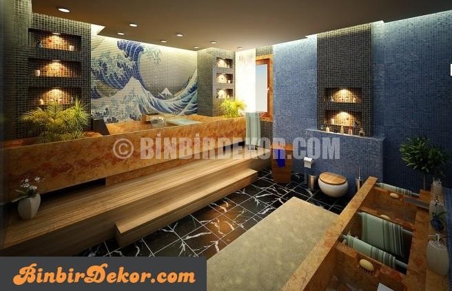 Çarpıcı ve Modern banyo örnekleri