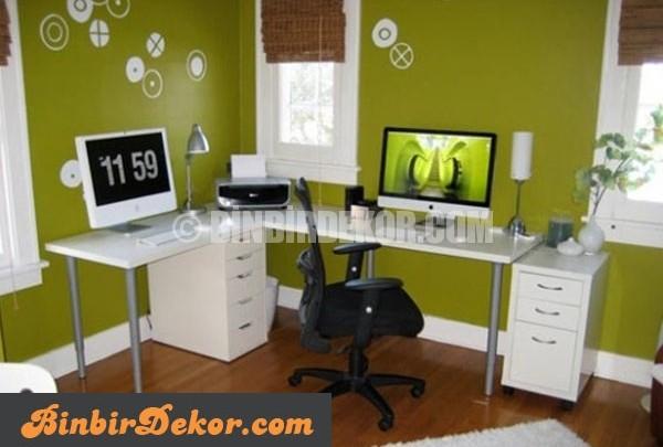 yaratıcı home ofis dekorasyonları