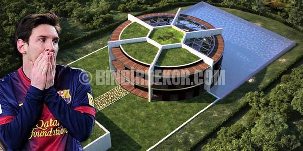 Messi'nin ilginç evini gördünüz mü ?