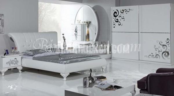 yatak odası dekorasyon beyaz