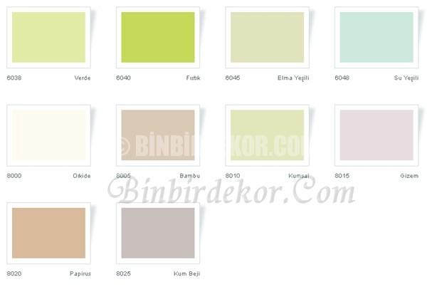 Casati duvar renkleri