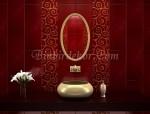 kırmızı banyo seramikleri kütahya