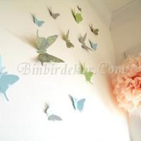 kelebekli duvar  çocuk odası