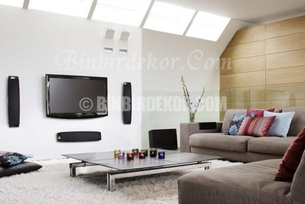 Modern ve Havalı oturma odası dekorasyonları