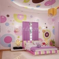 renkli duvar dekorasyonu çocuk odası
