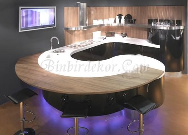 En güzel oval mutfak tezgahları