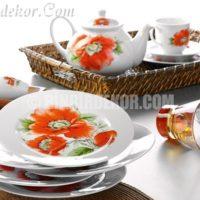 çiçekli porselen kahvaltı takımları kütahya porselen
