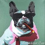 Köpek Yağlı Boya Tablo