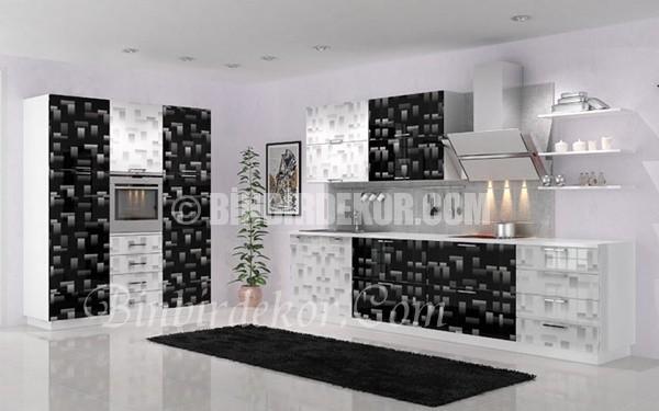 desenli mutfak dolapları