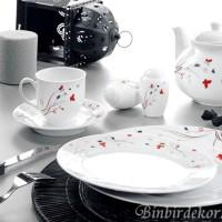 kütahya porselen yasemin kahvaltı takımı