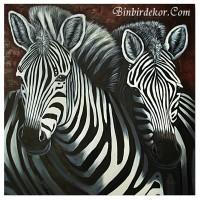 yağlı boya tablo zebra