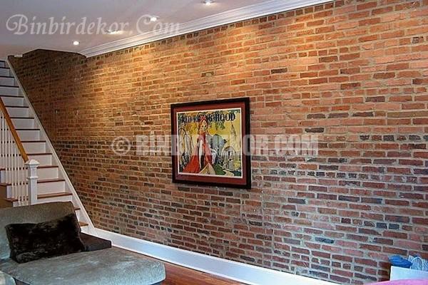 duvar dekorasyon fikirleri tuğla duvar
