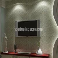 Plazma Tv Arkası Taş Kaplama | Tv Ünite Arkası Taş Kaplama