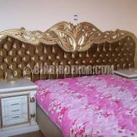 Klasik Oymalı Altın Varak Kapitone Yatak Odası MObilya